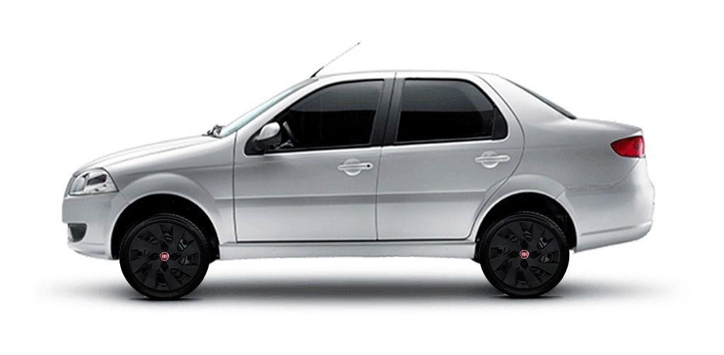 Calota Preta 4pç Idea Palio Gran Siena Aro 15 Fiat G195pfjv