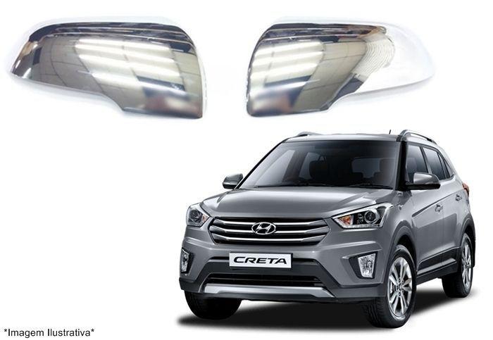 Capa Aplique Cromado Retrovisor Hyundai Creta
