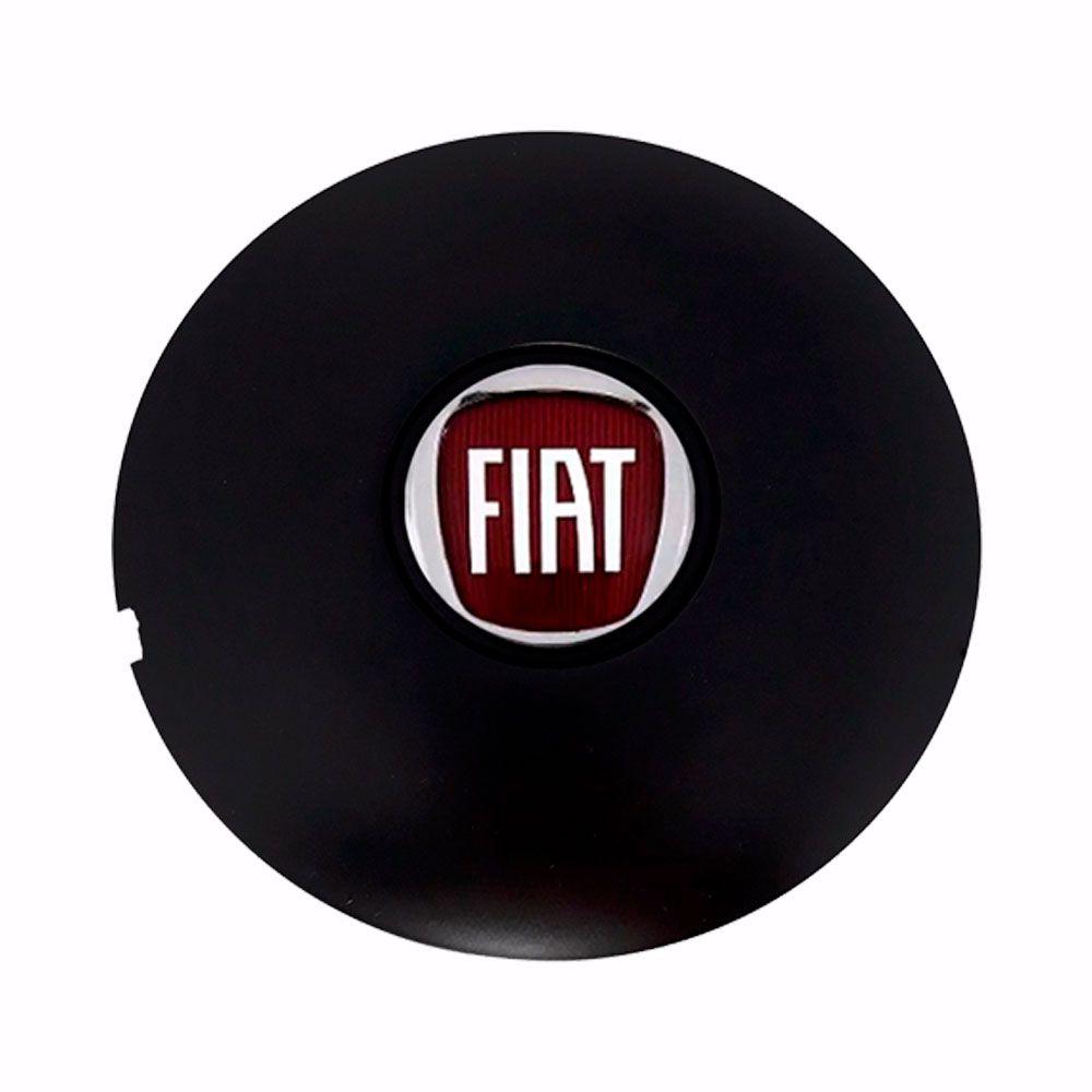 Calota Centro Miolo De Roda Fiat Preta Fosca