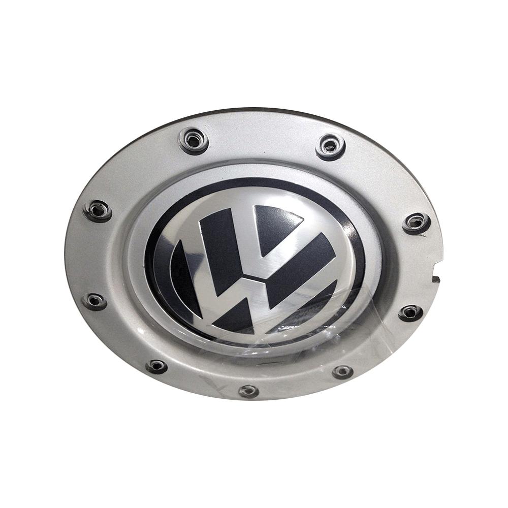 Centro de roda Tampa Roda Audi Rs4 Prata para Volkswagen