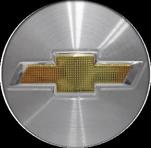 Emblema Logo Alumínio Chevrolet GM Escovado Calota Roda 51mm