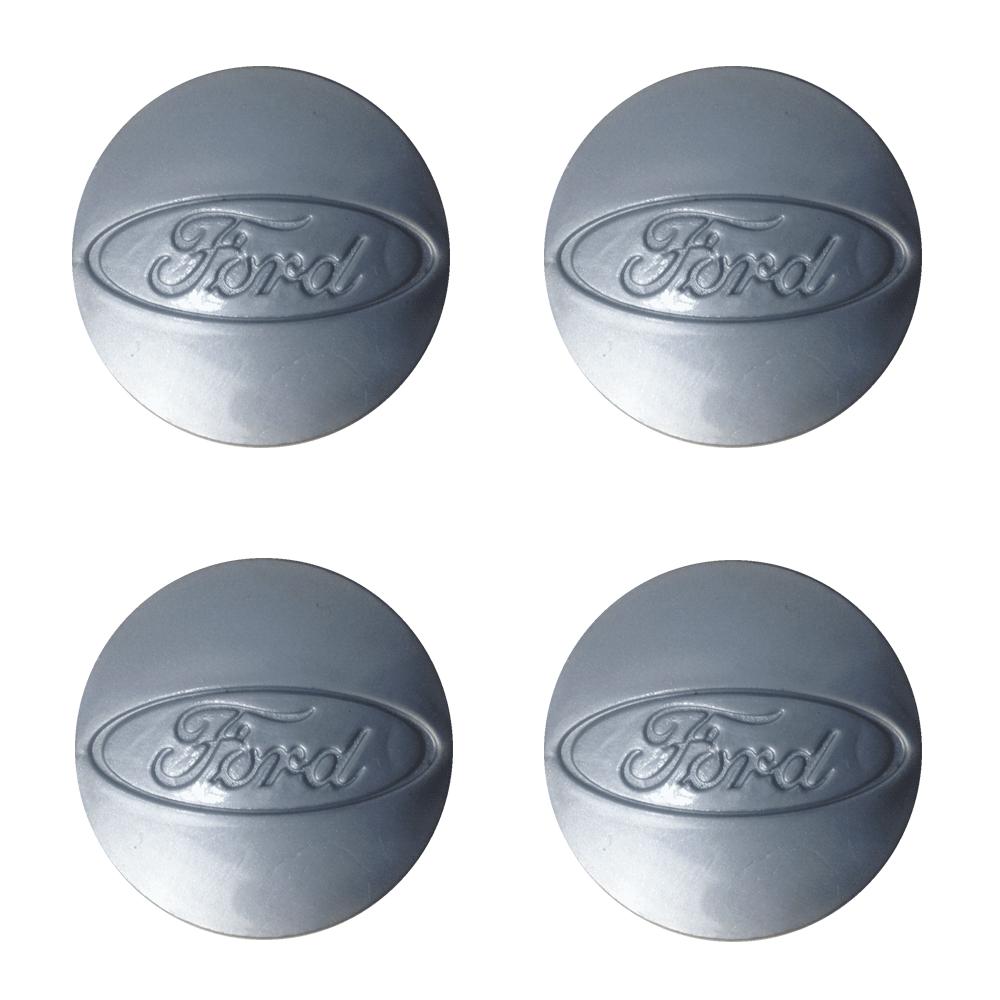 Emblemas de Abs em Alto Relevo Ford Prata -