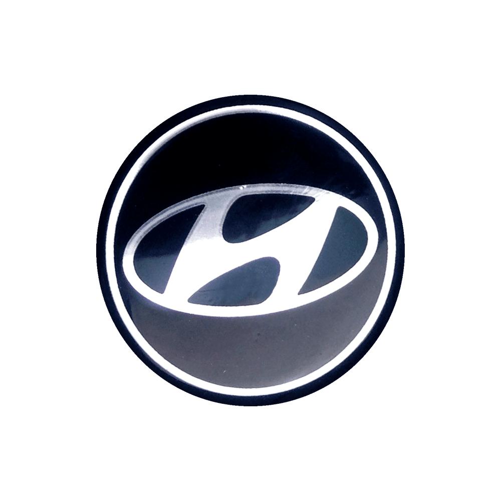 Emblemas  Resinado Hyundai Preto
