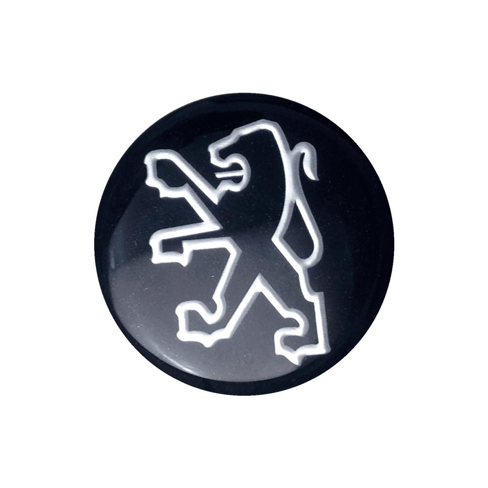 Emblemas Resinado Peugeot Preto