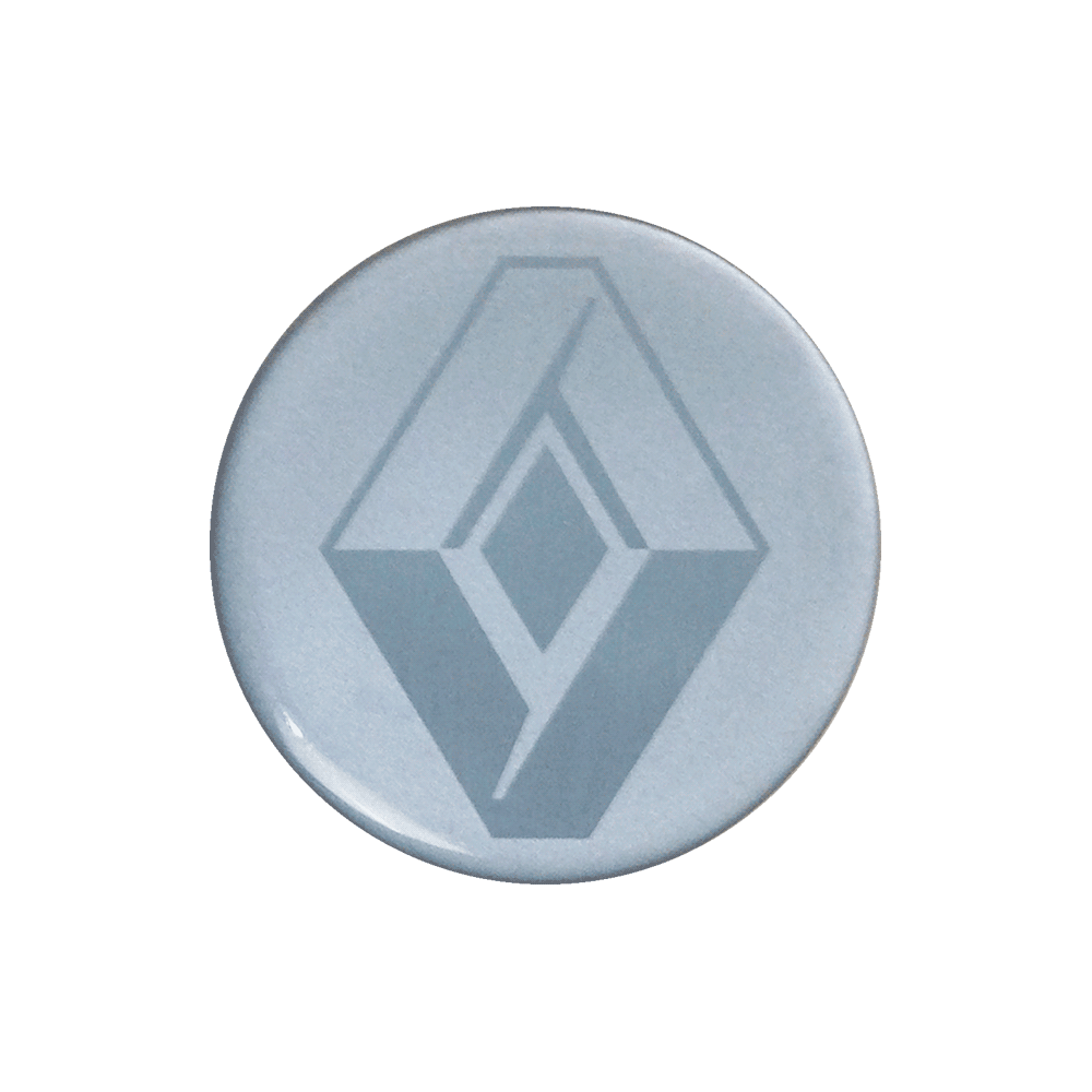 Emblemas Resinado Renault Prata