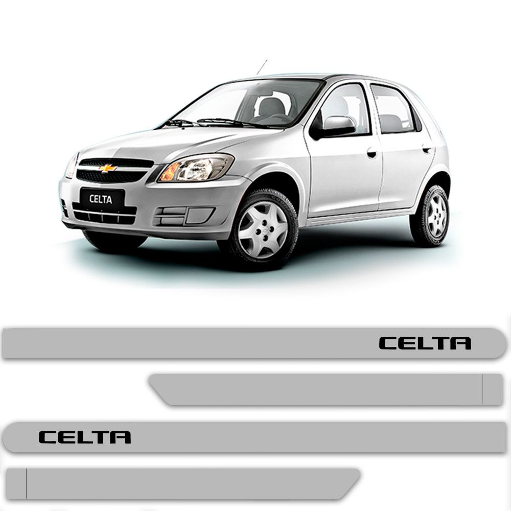 Friso Lateral Personalizado Para Chevrolet Celta - Todas As Cores