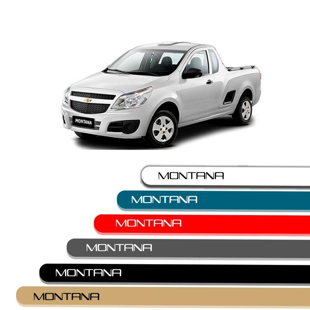 Friso Lateral Personalizado Para Chevrolet Montana - Todas As Cores
