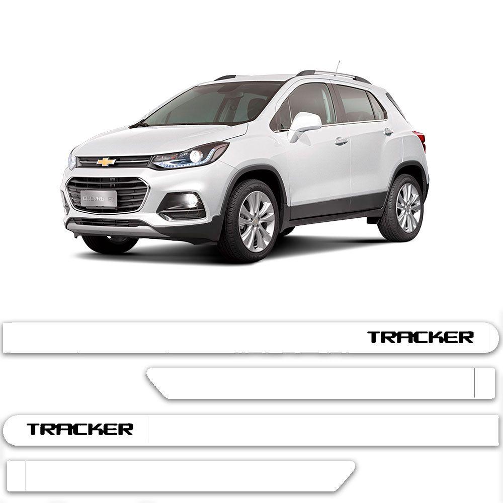 Friso Lateral Personalizado Para Chevrolet Tracker - Todas As Cores