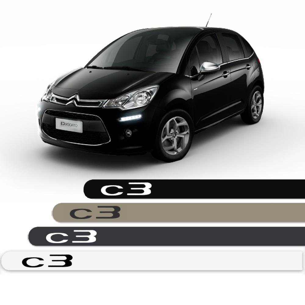Friso Lateral Personalizado Para Citroen C3 - Todas As Cores