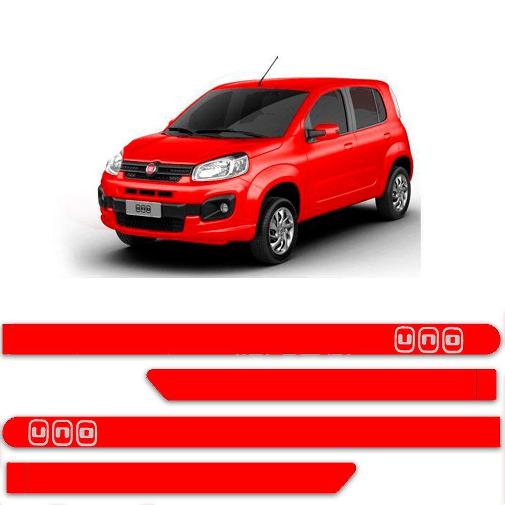 Friso Lateral Personalizado Para Fiat Uno Attractive Vivace - Todas As Cores