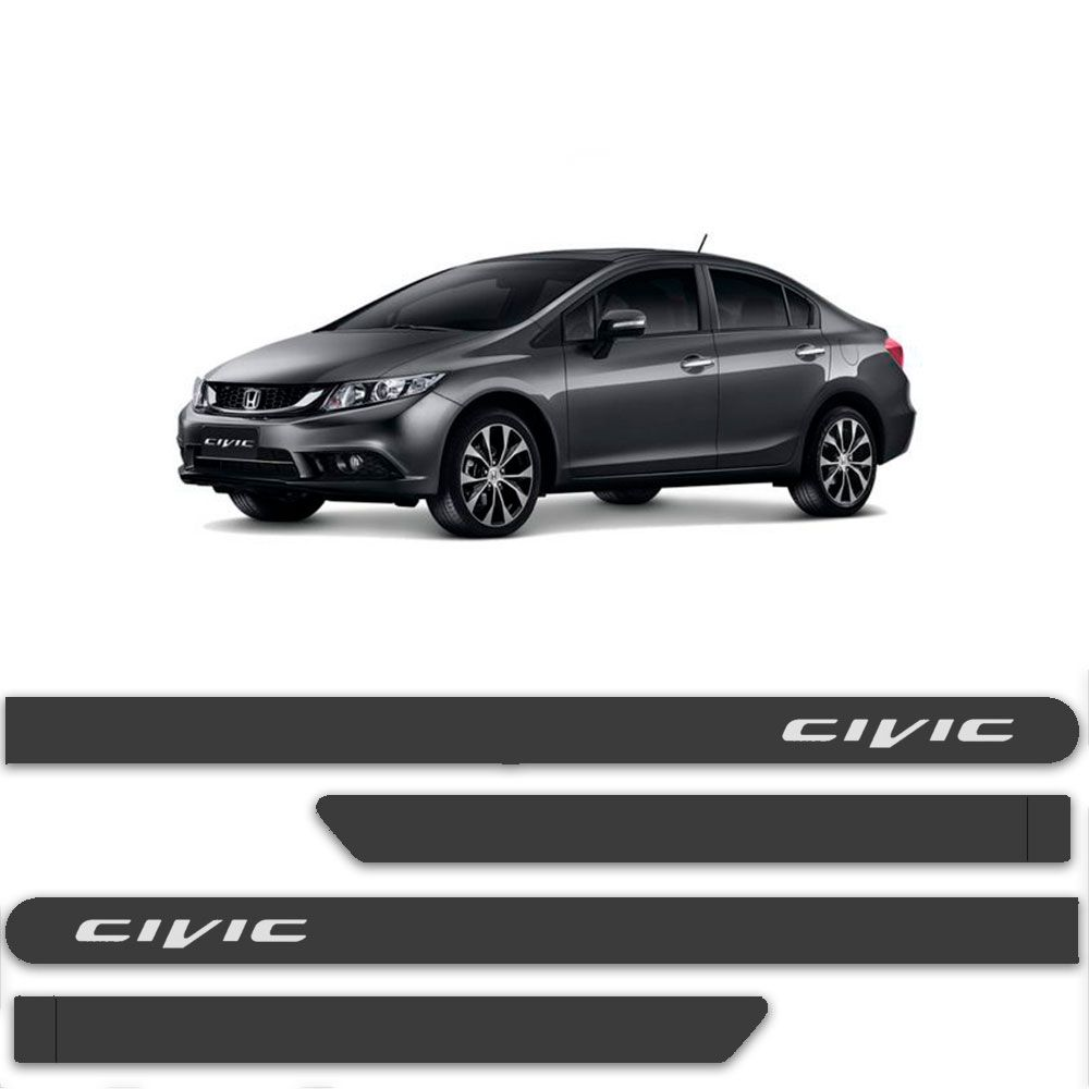 Friso Lateral Personalizado Para  Honda Civic - Todas As Cores