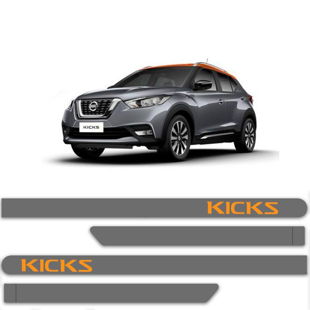 Friso Lateral Personalizado Para Nissan Kicks - Todas As Cores