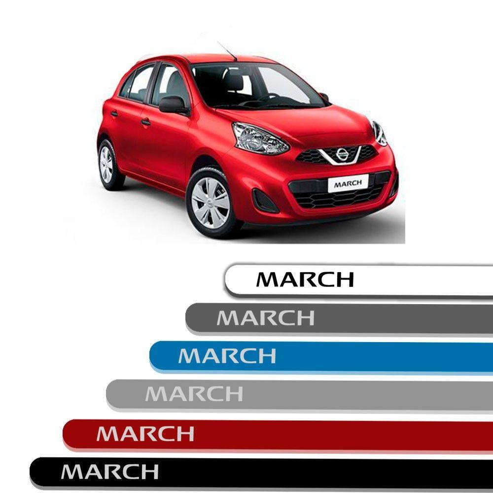 Friso Lateral Personalizado Para Nissan March - Todas As Cores