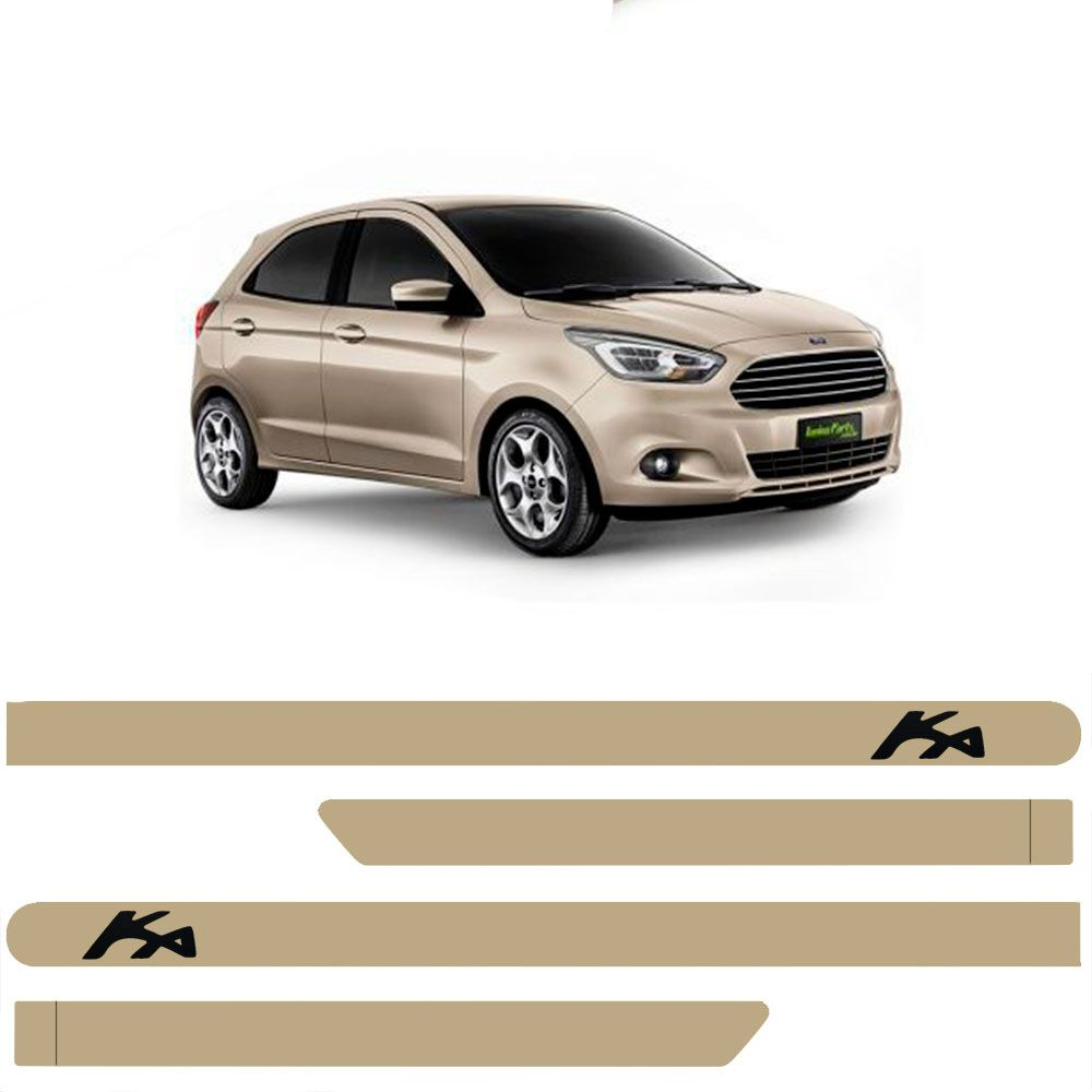 Friso Lateral Personalizado Para Novo Ford Ká - Todas As Cores
