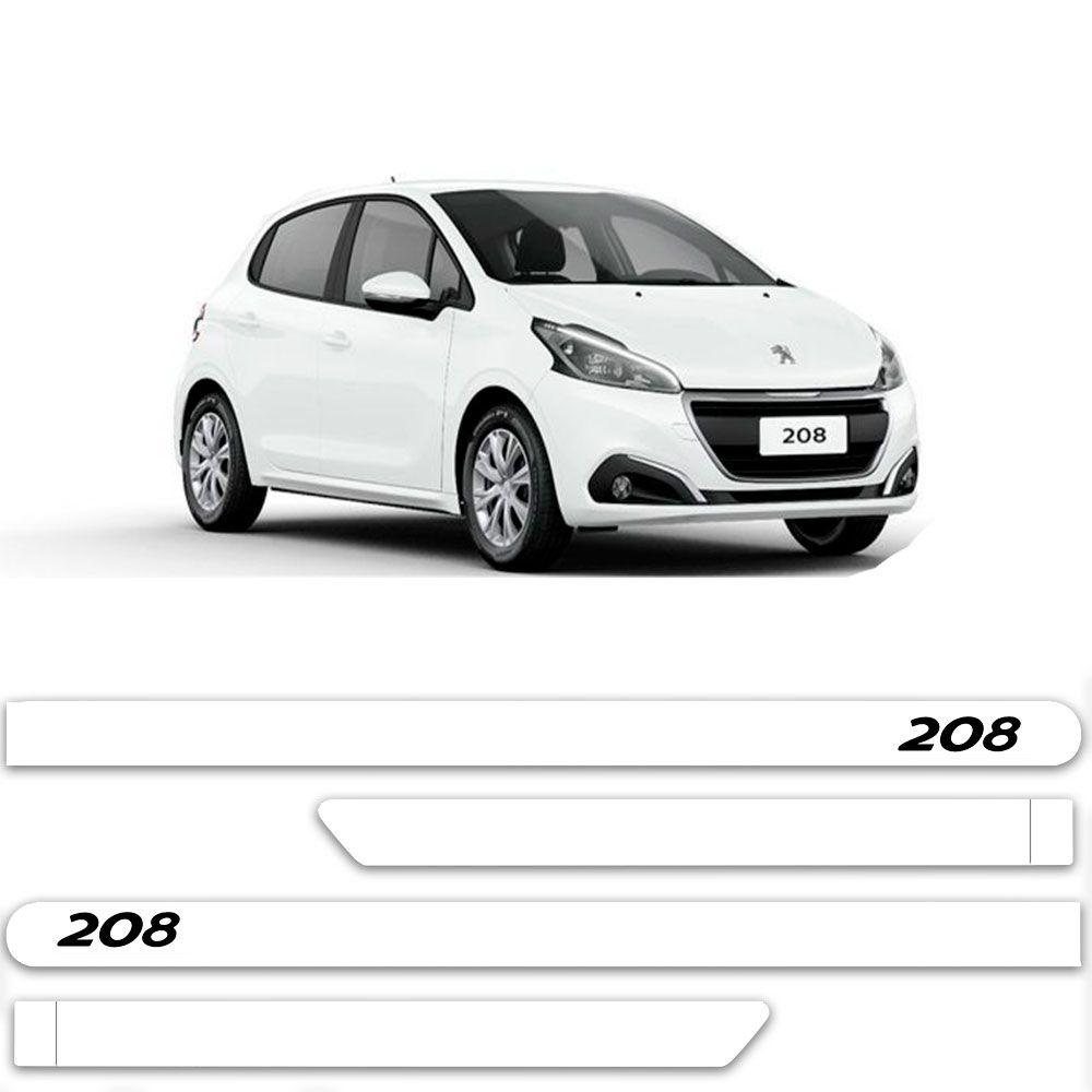 Friso Lateral Personalizado Para Peugeot 208 - Todas As Cores