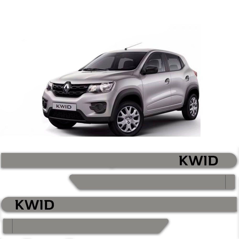Friso Lateral Personalizado Para Renault Kwid - Todas As Cores