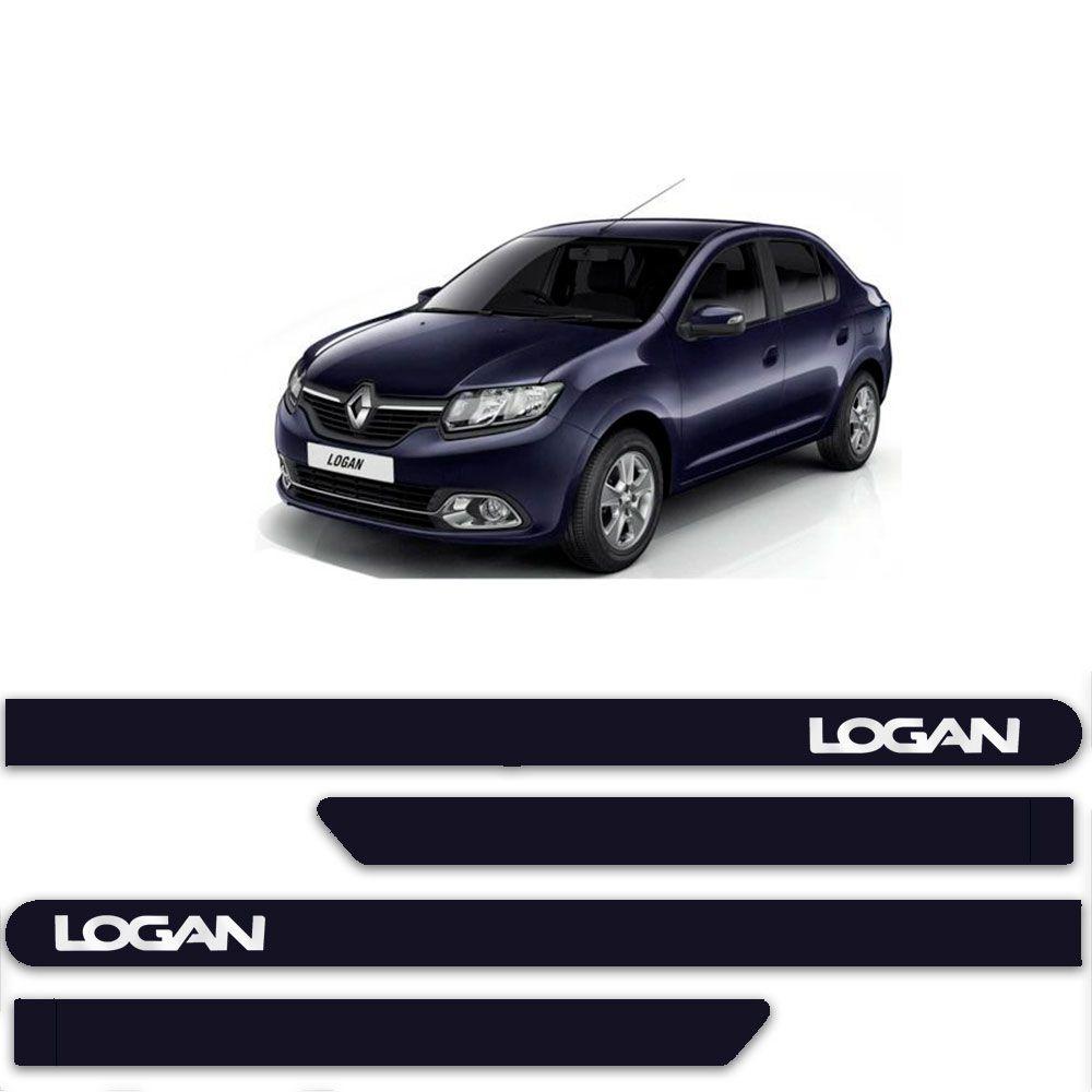 Friso Lateral Personalizado Para Renault Logan - Todas As Cores