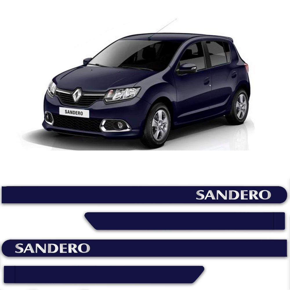 Friso Lateral Personalizado Para Renault Sandero - Todas As Cores
