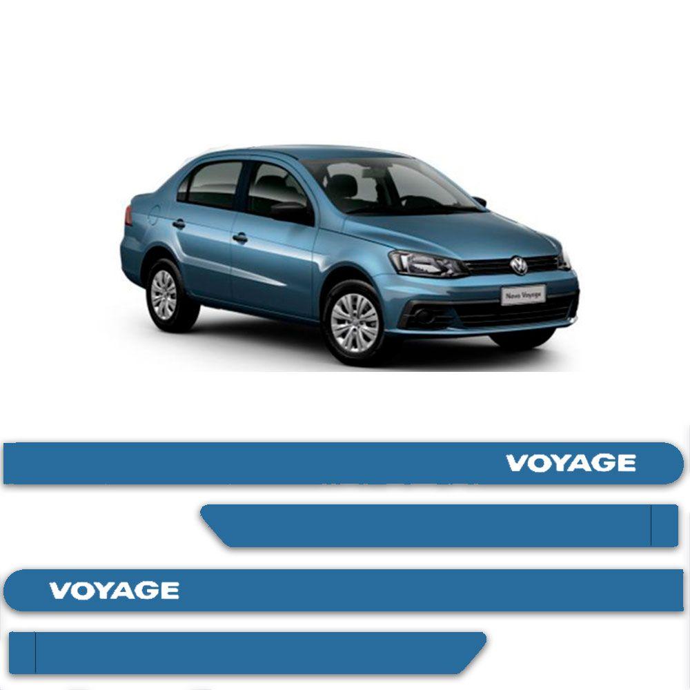Friso Lateral Personalizado Para  Volkswagen Voyage - Todas As Cores