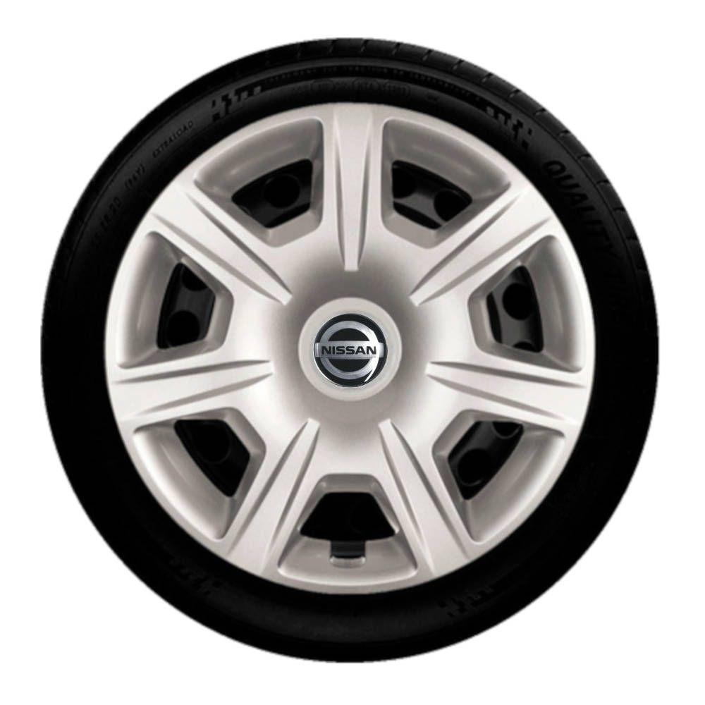 Jogo Calota 4pç Aro 15 Nissan Tiida Versa g876j