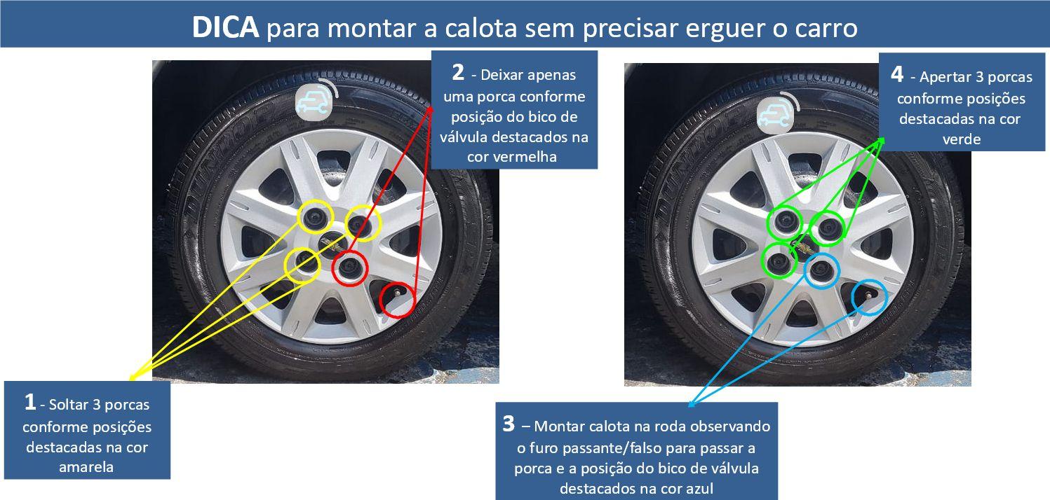 Jogo Calota 4pçs Aro 13 GM Classic Corsa Wind Celta G072j