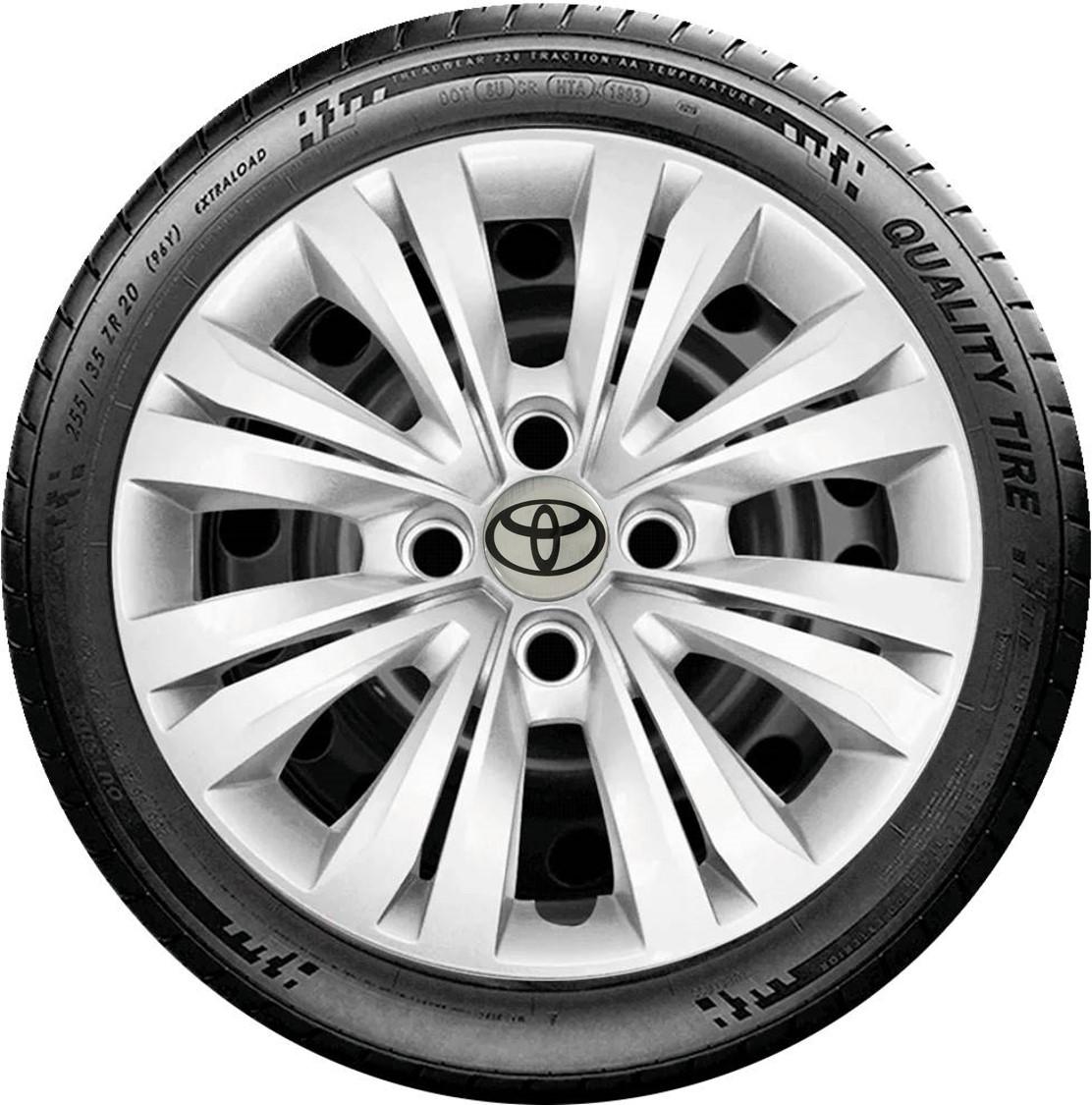 Jogo de Calota 4pç Prata Toyota Etios Corolla Aro 14 G245j
