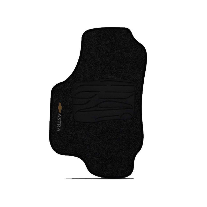 Jogo de Tapete Carpete para Chevrolet Astra - Preto -