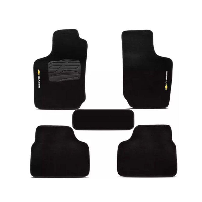 Jogo de Tapete Carpete para Chevrolet Corsa Classic - Preto -
