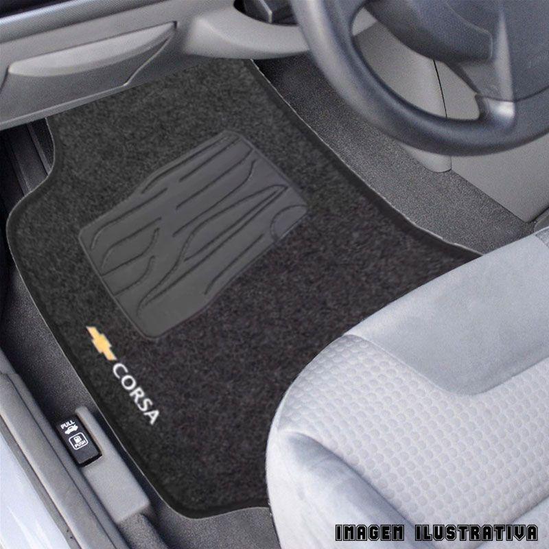 Jogo de Tapete Carpete para Chevrolet Corsa Hatch - Grafite