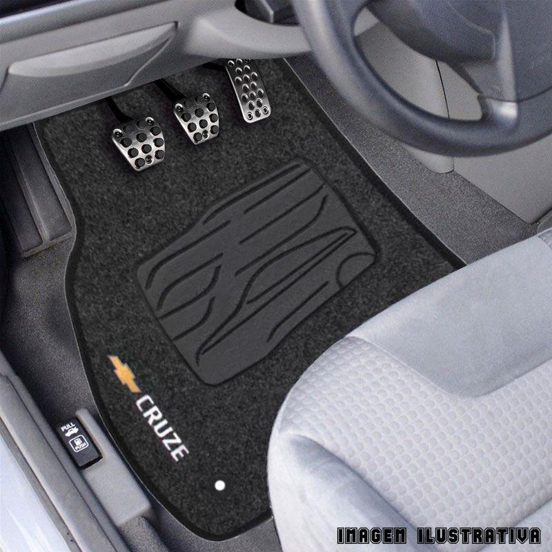 Jogo de Tapete Carpete para Chevrolet Cruze - Preto