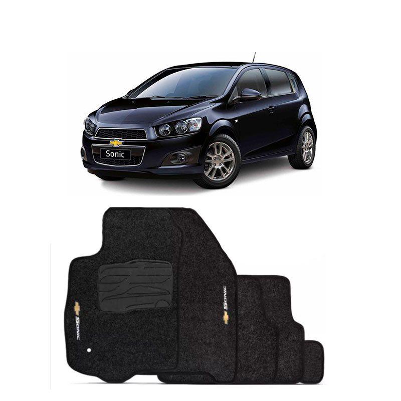 Jogo de Tapete Carpete para Chevrolet Sonic - Preto