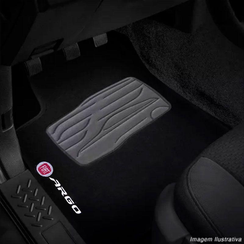 Jogo de Tapete Carpete para Fiat Argo - Preto -