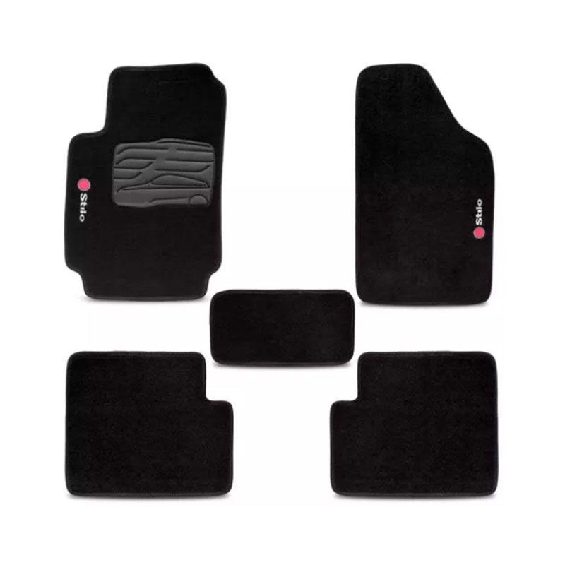 Jogo de Tapete Carpete para Fiat Stilo 2006 a 2010 -