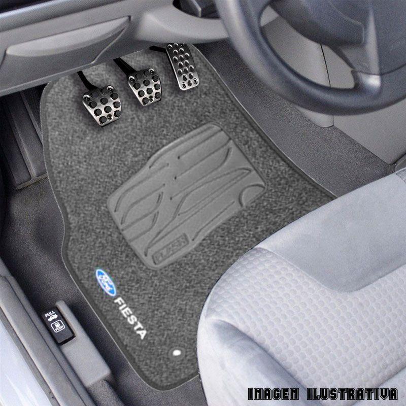 Jogo de Tapete Carpete para Ford Fiesta Rocam 2004 a 2013 - Grafite -