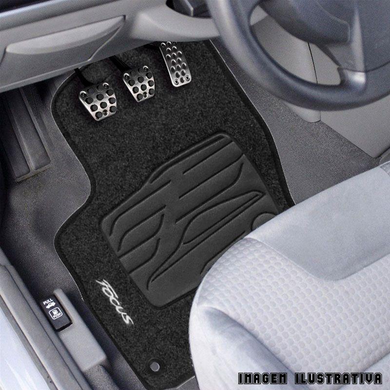 Jogo de Tapete Carpete para Ford Focus 2002 a 2009 - Preto -