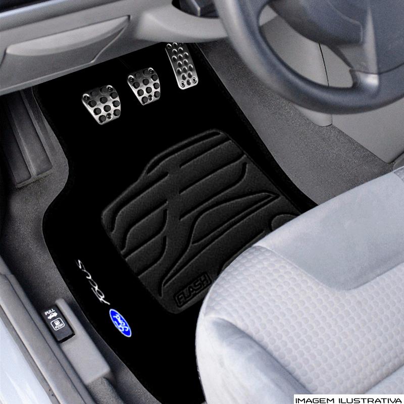 Jogo de Tapete Carpete para Ford Focus 2014/... - Preto