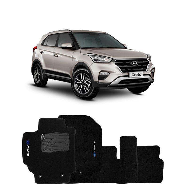 Jogo de Tapete Carpete para Hyundai Creta -