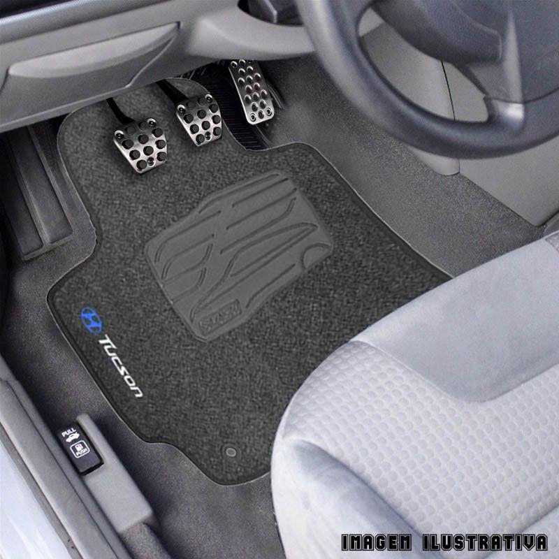 Jogo de Tapete Carpete para Hyundai Tucson 04/16 - Grafite