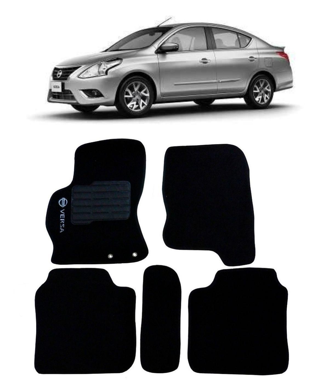 Jogo de Tapete Carpete para Nissan Versa 12/19 - Preto -