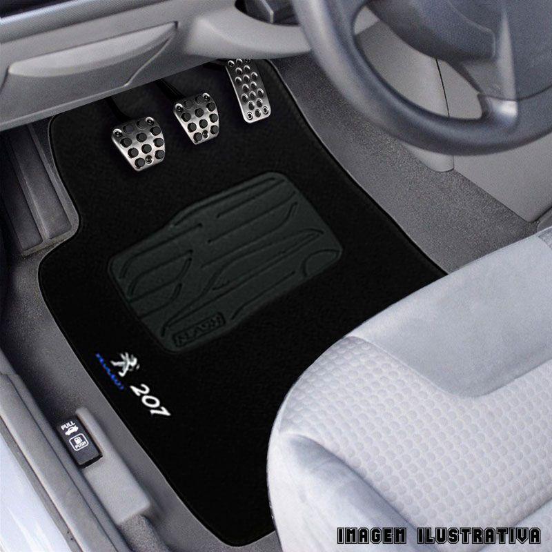 Jogo de Tapete Carpete para Peugeot 207 2009/...  - Preto -