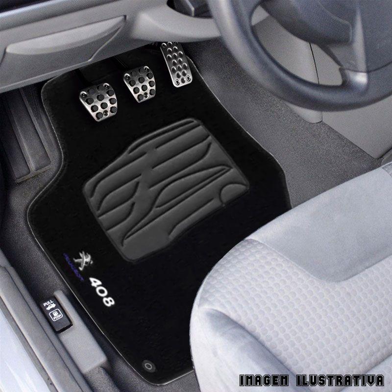 Jogo de Tapete Carpete para Peugeot 408 2011 a 2014 - Preto