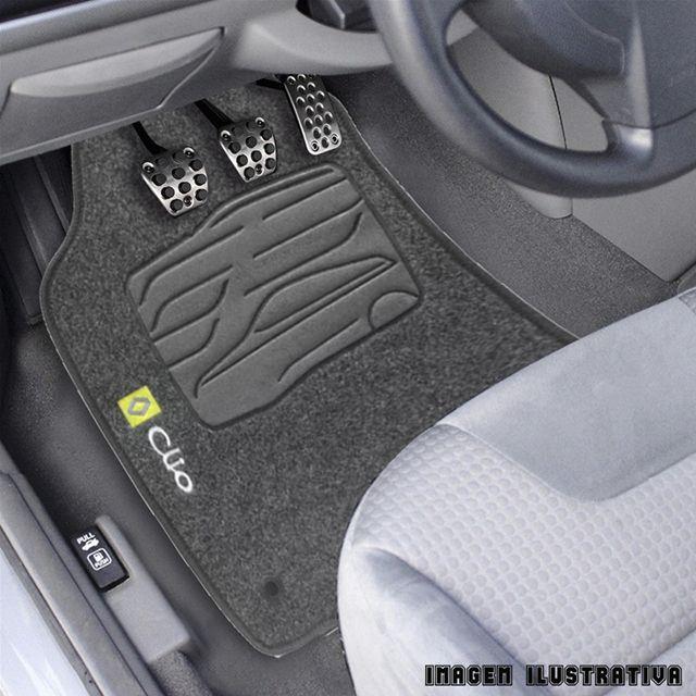 Jogo de Tapete Carpete para Renault Clio - Preto -