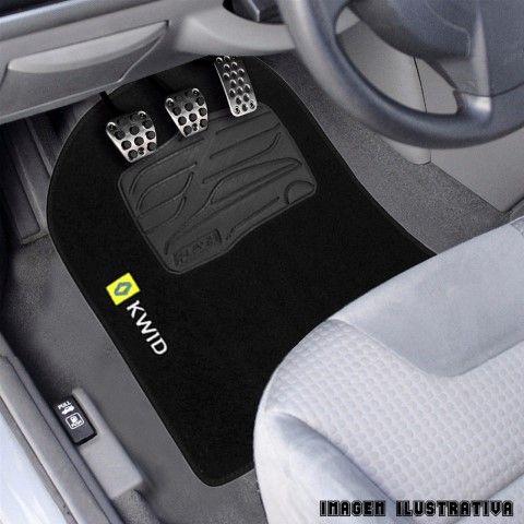 Jogo de Tapete Carpete para Renault Kwid - Preto -