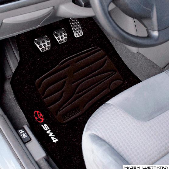 Jogo de Tapete Carpete para Toyota Hilux SW4 2013/... - Grafite -