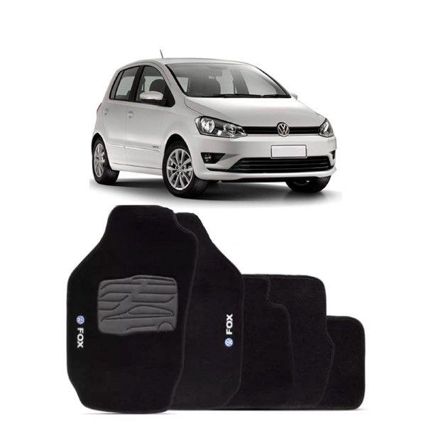 Jogo de Tapete Carpete para Volkswagen Fox - Preto -