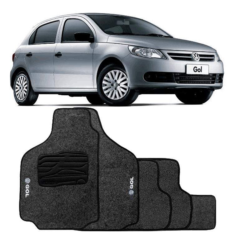 d5f5afb8e Jogo de Tapete Carpete para Volkswagen Gol G5 G6 - Grafite - - Mania de  Carro ...
