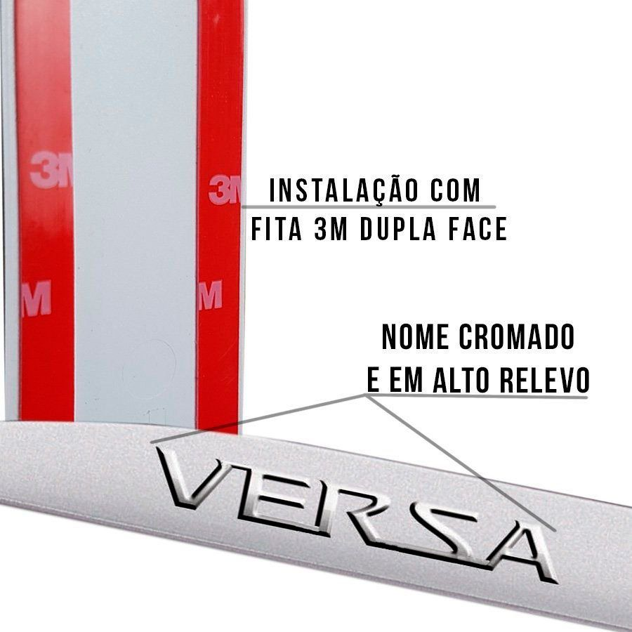 Jogo Friso Lateral Versa Escrita Alto Relevo Cromada jogo 2012 2013 2014 2015 2016 2017 2018 2019