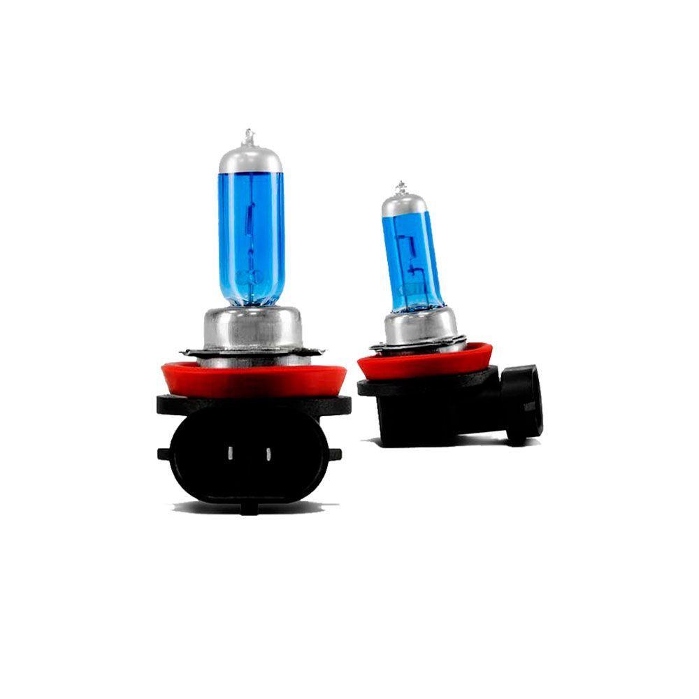 Par de  Lâmpadas Super Branca H11 Efeito Xenon