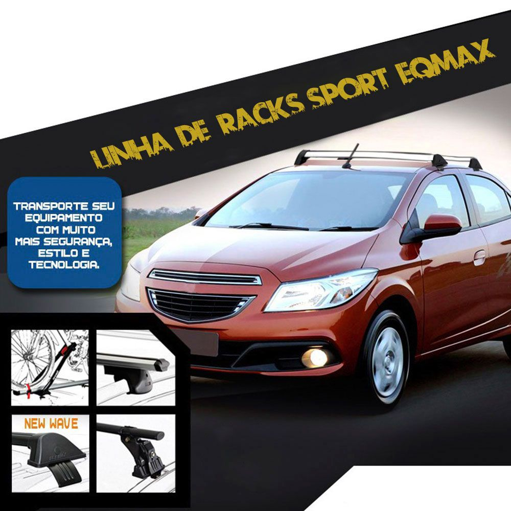 Rack De Teto New Wave Eqmax Chevrolet Gm Prisma  2013 a 2017