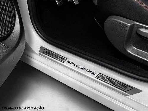 Soleira De Aço Inox Escovado Anti-risco Renault Sandero